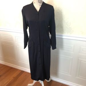 Vintage 1980's Japanese Navy Dress